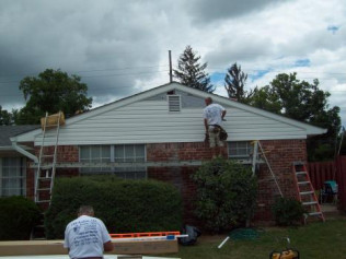 New Siding Installation in progress